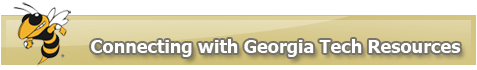 Connecting with Georgia Tech Resources button