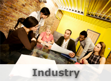 Industry Image: Meeting in an industrial setting