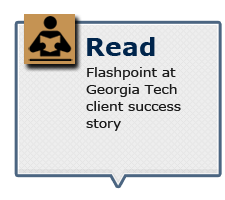 Read Flashpoint at Georgia Tech client success story