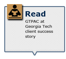 Read GTPAC at Georgia Tech client success story