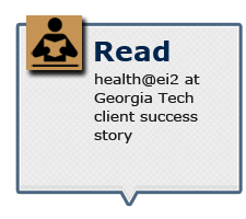 Read health@ei2 at Georgia Tech client success story