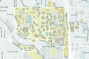 Georgia Tech Map