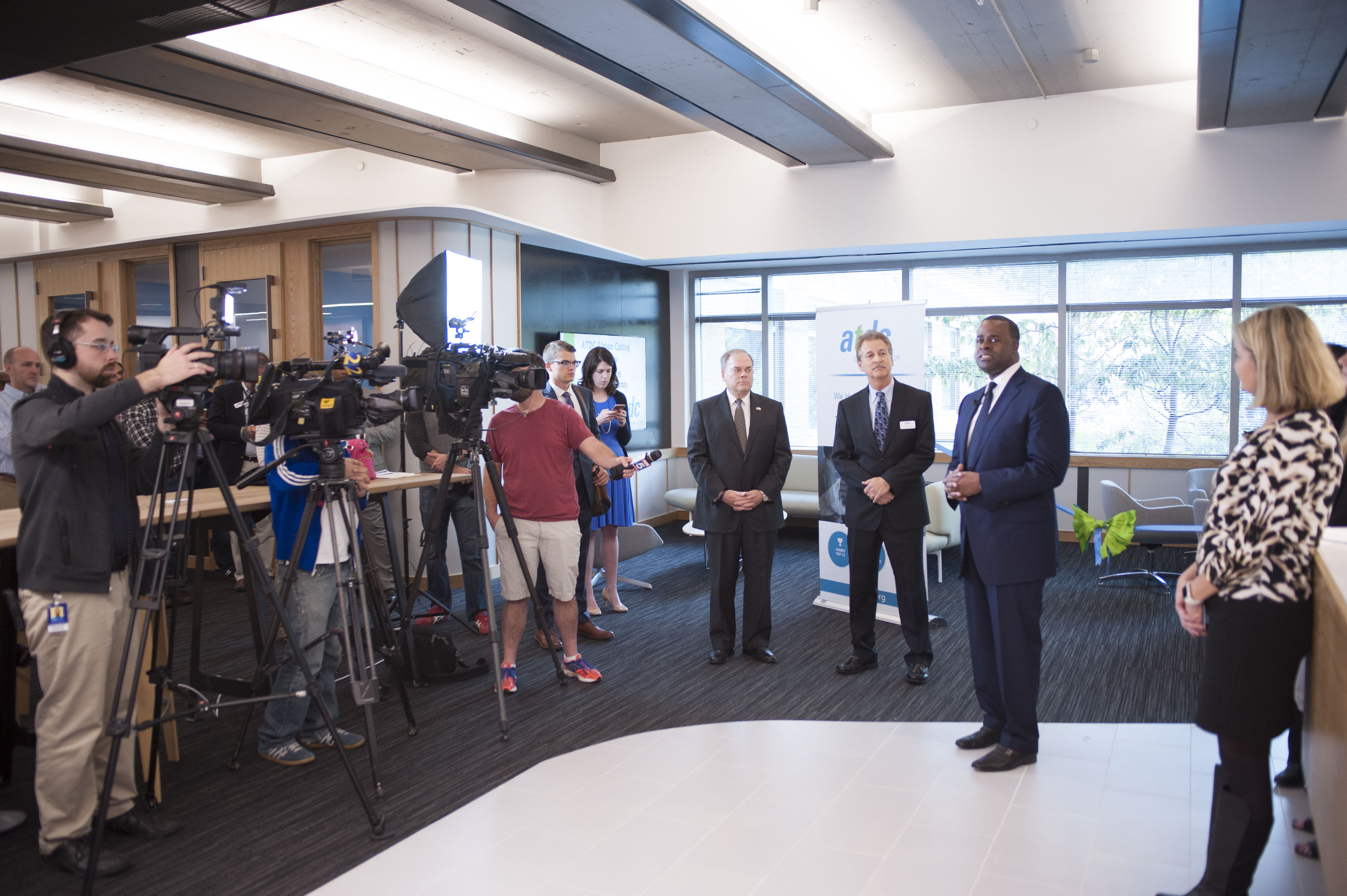 Atlanta Mayor Kasim Reed addresses media and the ATDC community on the incubator's importance in attracting and retaining technology talent in Atlanta and the state.