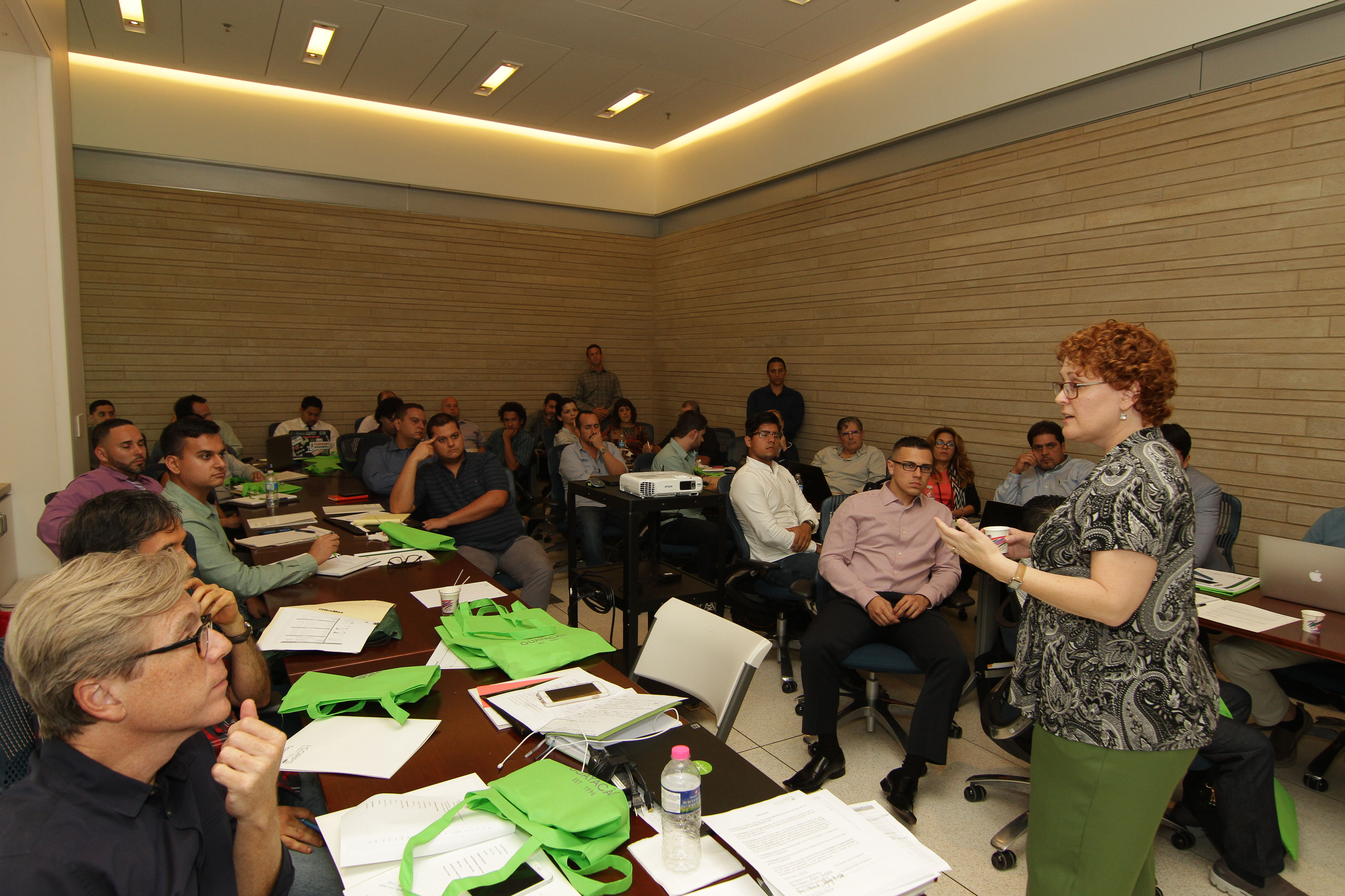 Brandy Nagel, an entrepreneur educator at Georgia Tech's VentureLab incubator and I-Corps instructor, leads a class in Puerto Rico.