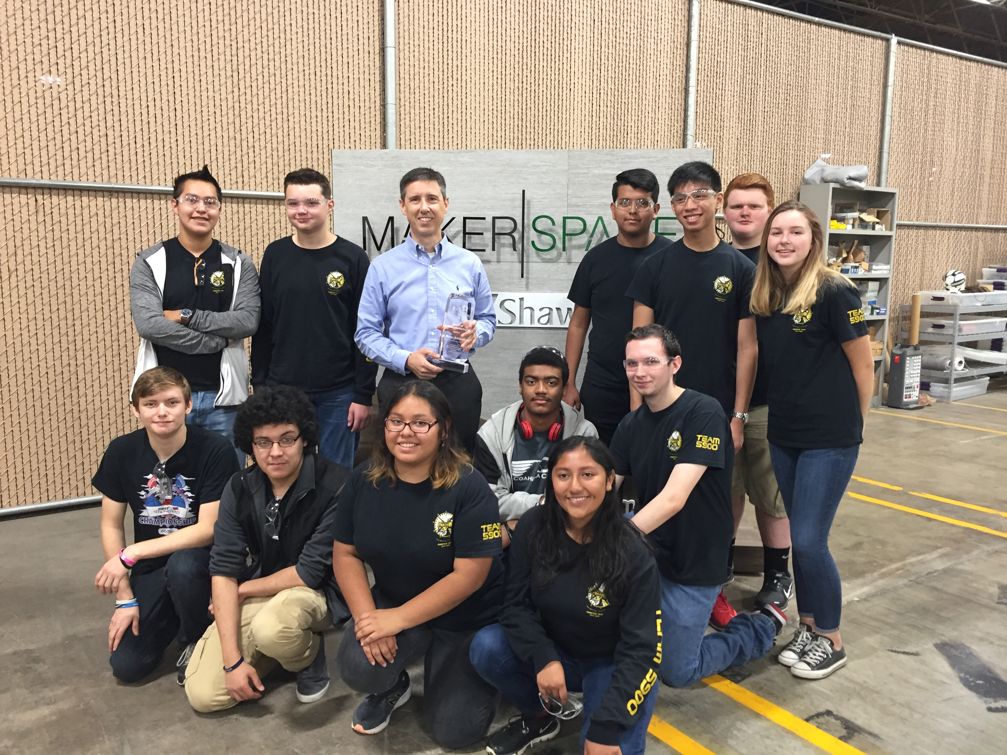 Hutchison and FIRST Robotics team.