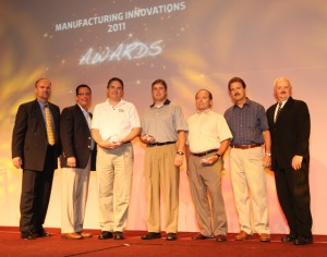 The Georgia MEP Lean Consortium Team won the Practitioner of the Year award at the national MEP conference. Pictured from left to right are: Mike Simpson; Eric Esoda; EI2's Larry Alford, Derek Woodham, Bill Nusbaum, and Chris Downing; and Roger Kilmer, MEP director.